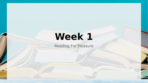 Accelerated Reading For Pleasure Lessons