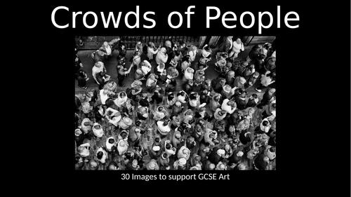 GCSE Art Exam 2020. Crowds / Crowded