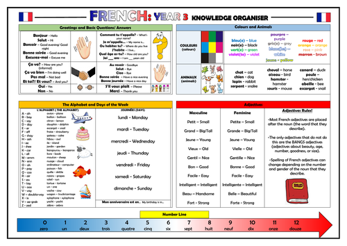 Year 3 French Knowledge Organiser!