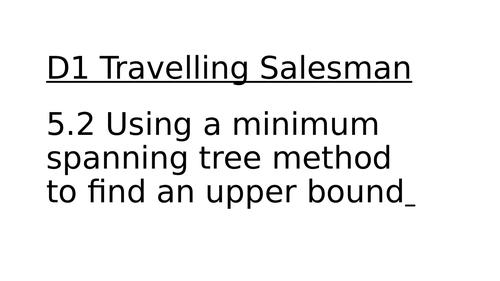 Decision Maths 1: Ch 5: Traveling Salesman