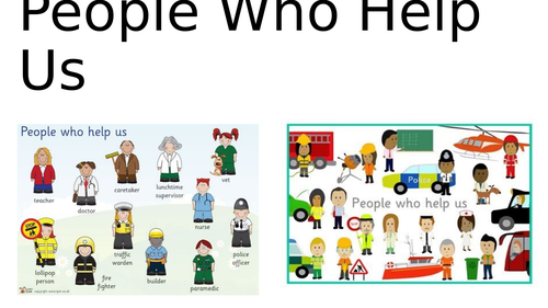 People Who Help Us photo powerpoint presentation EYFS/ KS1