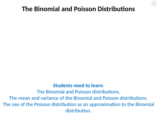 Statistics 2 (Binomial and Poisson Distributions) PowerPoint
