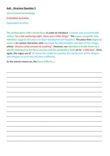 AQA: Year 9 Intro to English Language Paper 1 + Workbook