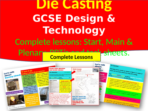 Design and Technology 9-1: Shaping Techniques - Die Casting & Casting (sand)