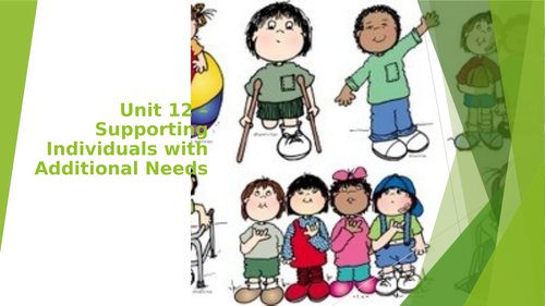 Unit 12-Supporting Individuals with Additional needs. 2016 Specification