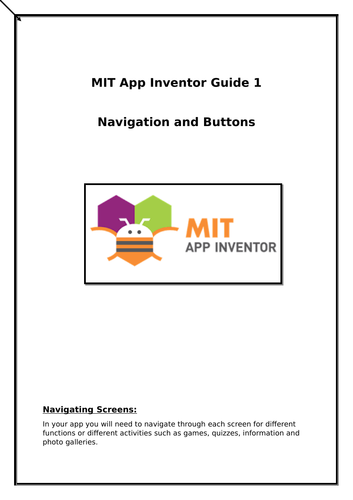 MIT App Inventor - How to make a navigation bar for your app