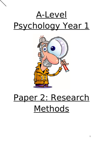 A-level Psychology Year 1 Research Methods workbook