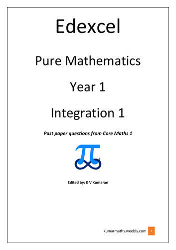 Pearson Edexcel GCE Maths Yr 1 Integration past exam questions from C1
