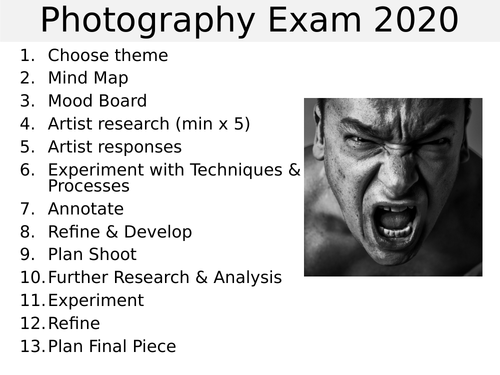 GCSE photography exam question 2020