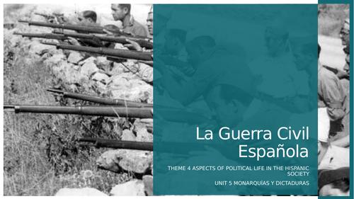 Spanish A'Level La Guerra Civil Española/Spanish Civil War