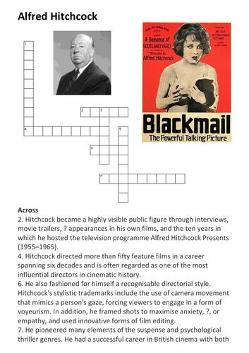 Alfred Hitchcock Crossword