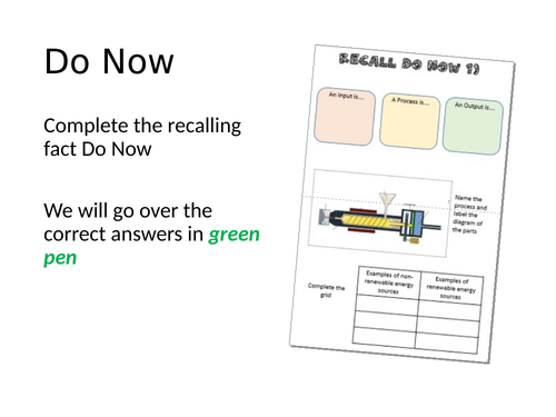 AQA GCSE DT - General Revision Do Nows/ Starters