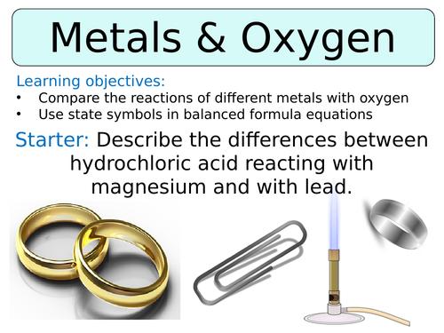 KS3 ~ Year 8 ~ Metal & Oxygen Reactions