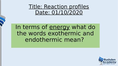 Reaction profile/energy level diagrams