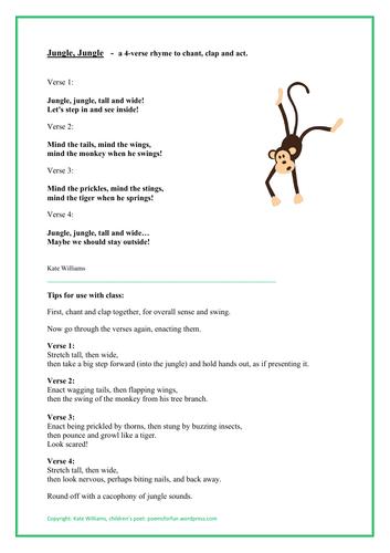 Jungle, Jungle - Simple, 4-Verse Rhyme
