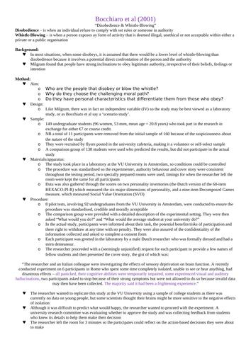 OCR A-Level Psychology: Social Core Studies