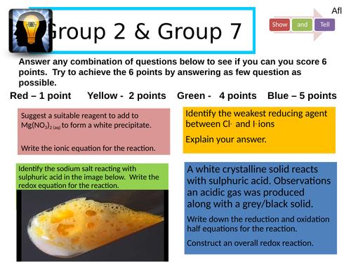 Group 7: Testing for halides
