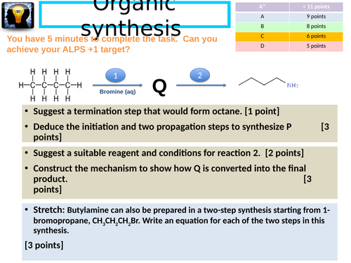 Haloalkanes - elimination