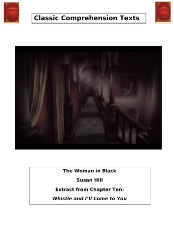 THE WOMAN IN BLACK. WHISTLE AND I'LL COME TO YOU. READING COMPREHENSION.WITH ANSWERS
