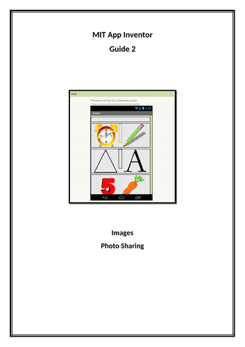 MIT App Inventor - Importing Images and Camera Message Sharing App