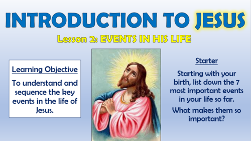 Introducing Jesus - Events in His Life!