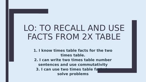 2 x Table (Year 2- White Rose Maths)