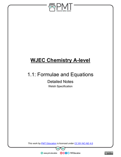 WJEC (Wales) A-level Chemistry Notes