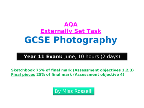 AQA ESA GCSE Photography Jan 2020