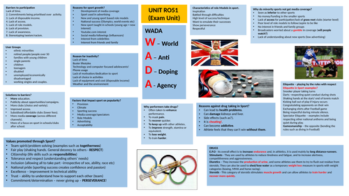 RO51 - exam revision poster (2 sided)