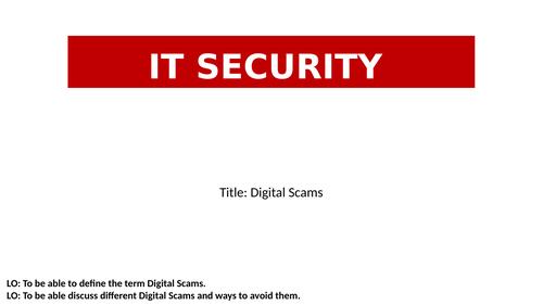 Online Threats, Digital Scams, CyberSecurity