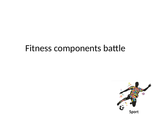Components of fitness 'battle' game
