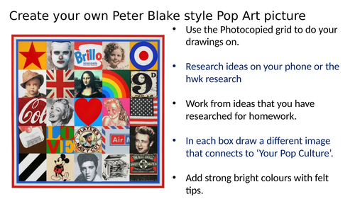 Peter Blake style Pop Art picture