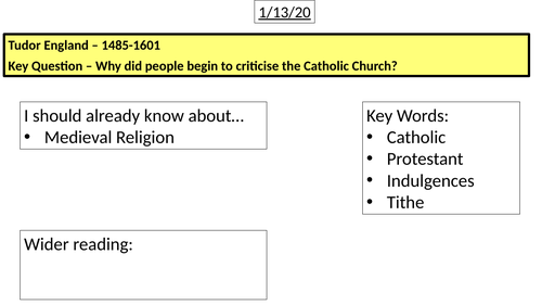 Why did people criticise the Catholic Church?