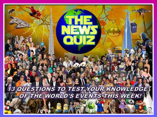 CURRENT WEEK The News Quiz 14th - 21st January 2020 Form Tutor Time Current Affairs