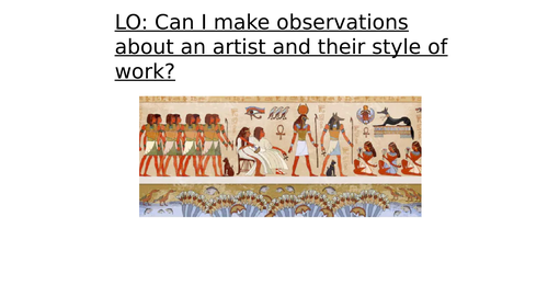 Egyptian Art lesson