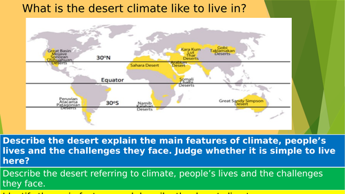 Comparing climates - Desert and Rainforests