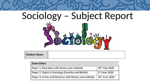 Sociology Subject Report Intervention