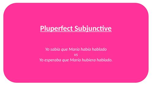 Pluperfect Subjunctive