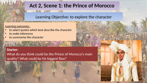 The Merchant of Venice: Act 2, Scene 1 (The Prince of Morocco)