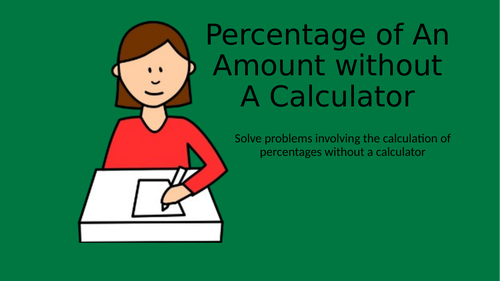 Percentage of Amounts-non calculator