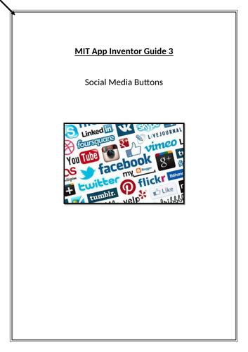 MIT APP Inventor - Social Media Buttons