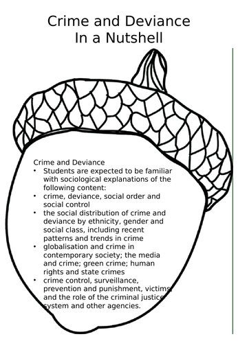 A-level Sociology - In a Nutshell - Crime & Deviance Revision Booklet