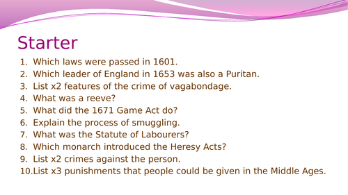 Crime and Punishment- Law enforcement in Early Modern England
