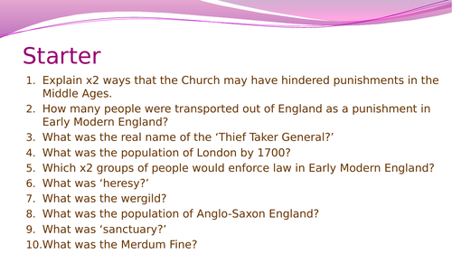 Crime and Punishment in Early Modern England- The role of the factors for change