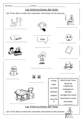 SPANISH - Classroom Instructions