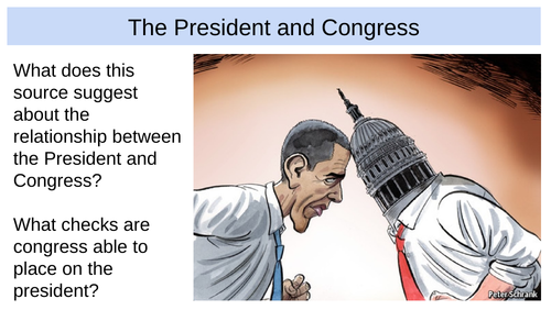 A-level Politics USA - Relationship between president and Institutions (Edexcel)