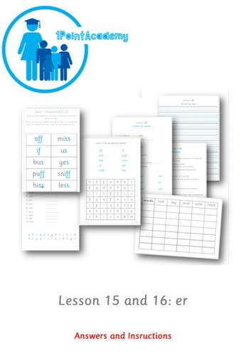 Year 1 Spelling Worksheet - er