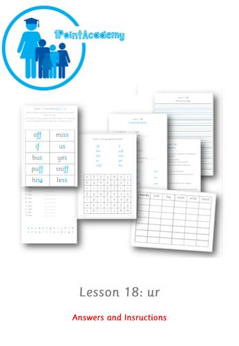Year 1 Spelling Worksheet - ur