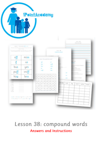 Year 1 Spelling Intervention Worksheets - Compound Word and Prefix Un