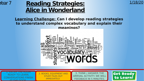 Vocabulary and Reading (Alice in Wonderland)